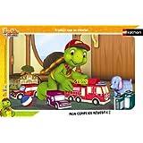 Nathan - 86098 - Puzzle Enfant avec cadre - Franklin Joue au Pompier - 15 Pièces