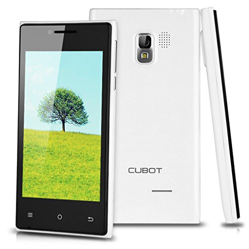 Cubot GT72+ Android 4.4 KitKat 3G Smartphone Dual Core Dual SIM Handy ohne Vertrag 4,0 Zoll Touchscreen 4GB WIFI 1.2GHz Dual Kameras Weiß