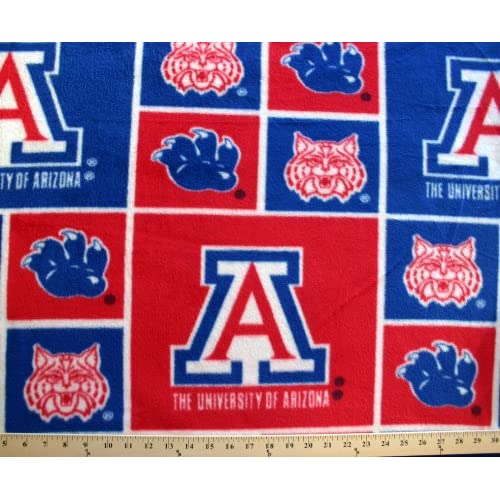 college university of arizona wildcats 003 print fleece fabric by the yard. Black Bedroom Furniture Sets. Home Design Ideas