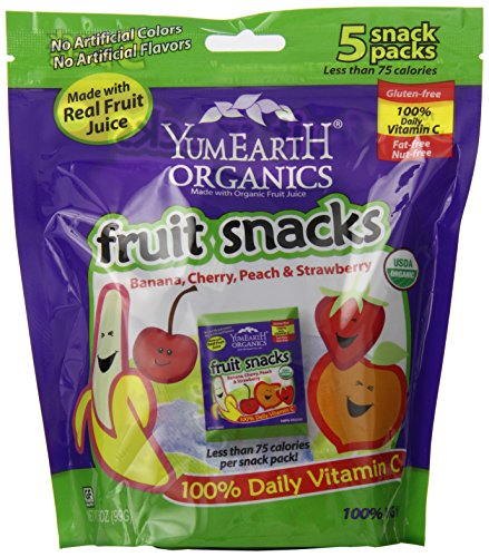 YumEarth Organic Fruit Snacks, 5 Count, net wt. 3.5oz image