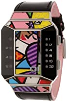 01TheOne Unisex SC123R1 Split Screen Romero Britto Art Pink Watch