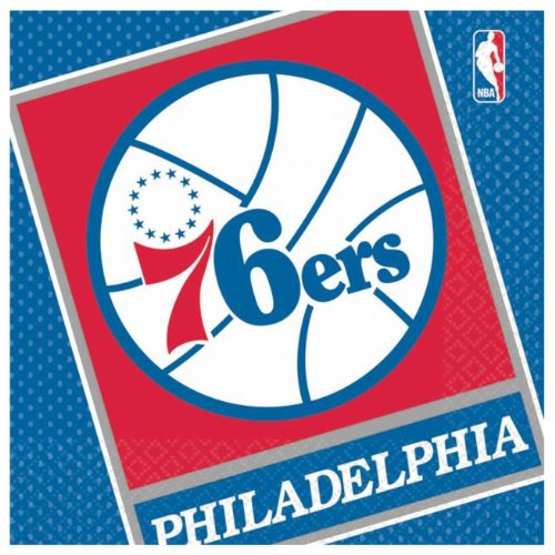 Costumes 203668 Philadelphia 76ers Basketball- Lunch Napkins