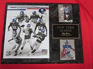 2013 New York Giants 2 Card Collector Team Plaque w  8x10 Photo by J & C Baseball Clubhouse