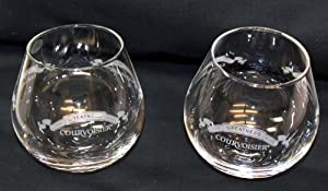 Pair Of Courvoisier Stemless 4oz Snifter Snifters