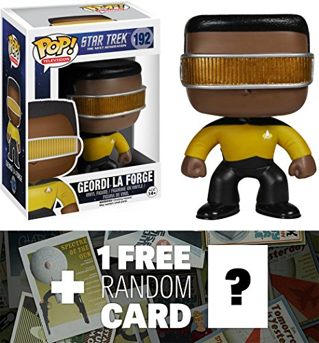 Geordi La Forge: Funko POP! x Star Trek The Next Generation Vinyl Figure + 1 FREE Official Star Trek Trading Card Bundle [49058]