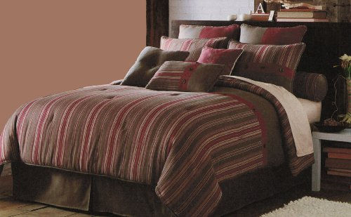 *$ Blanket America Wyatt 4-Piece King Comforter Set, Brown
