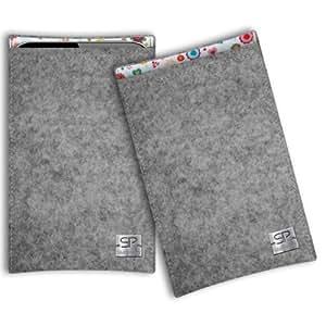 SIMON PIKE Samsung Galaxy S3 Filztasche Boston in grau 8, handgefertigte Smartphone Filz Tasche aus echtem Wollfilz