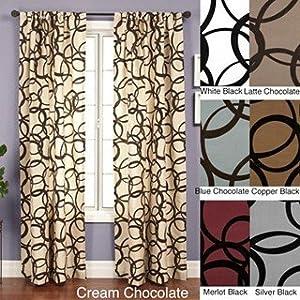 Nirvano 84-inch Rod Pocket Curtain Panel (Copper/Black)