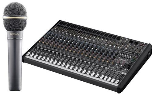 Mackie Profx22 Mixer With Effects W/ Ev Nd767A Dynamic Microphone Package