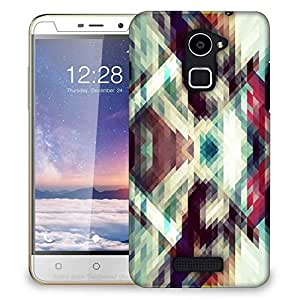Snoogg Triangle Mosaic Abstract Designer Protective Phone Back Case Cover For Coolpad Note 3 Lite