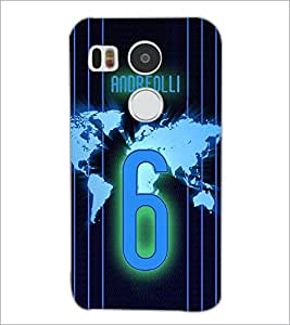 PrintDhaba Number 6 D-3914 Back Case Cover for LG NEXUS 5X (Multi-Coloured)