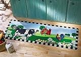 Cow, Rooster & Barn Scene Kitchen Floor Runner Rug by Winston Brands