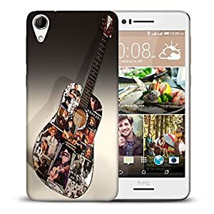 Snoogg Colorful Guitar Designer Protective Back Case Cover For HTC DESIRE 728 DUAL SIM