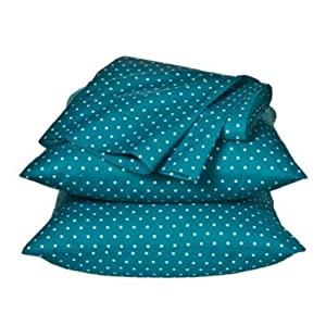 Xhilaration Full Size Sheets Blue Polka Dot Sheet Set Double Bedding