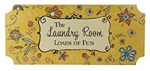 The Laundry Room - Loads of Fun Small Wood Plaque
