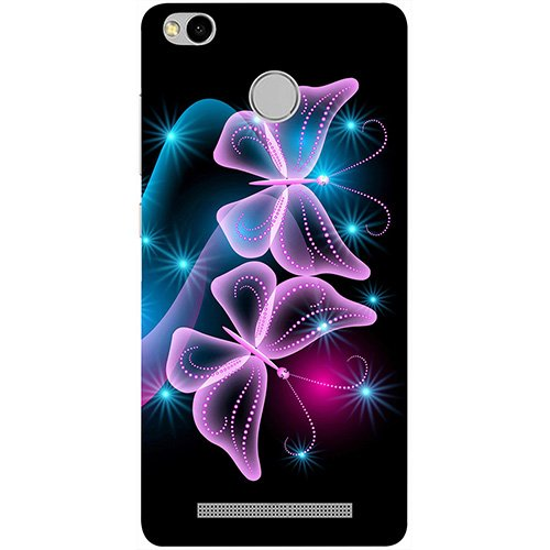 0ef1ac233 72% OFF on Casotec Butterflies Neon Light Design 3D Printed Hard Back Case  Cover for Xiaomi Redmi 3S Prime on Amazon