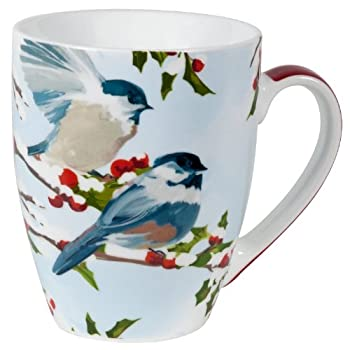 Chickadees and Holly Mug