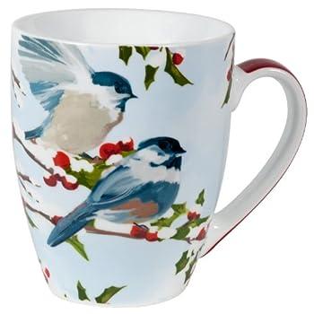 Chickadees and Holly Mug