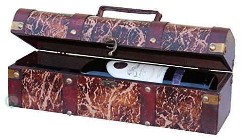 Vintiquewise(TM) Distressed Wine Gift Box