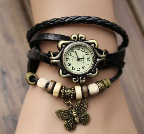 51OFoIlp JL Fashion Accessories Trial Order New Quartz Fashion Weave Wrap Around Leather Bracelet Lady Lady Wrist Watch Reviews