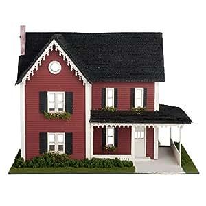 amazon com dollhouse miniature 1 48 scale farmhouse kit
