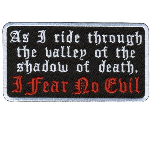 Hot Leathers I Fear No Evil Patch (4