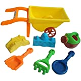 MagiDeal KIDS SUMMER MINI WHEELBARROW PLAYSET FOR BEACH OR GARDEN FUN TOYS GIFTS