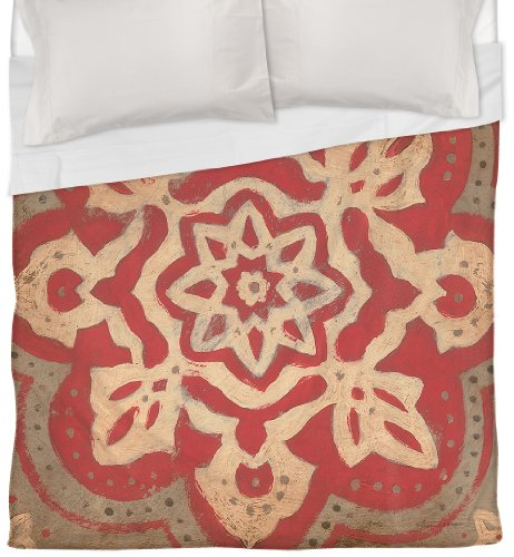 Coral Duvet Cover Queen front-1036573