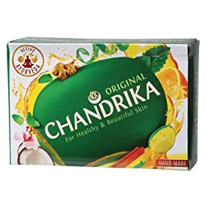 Chandrika Ayurvedic Soap 2.64-Ounce Unit  (Pack of 12)