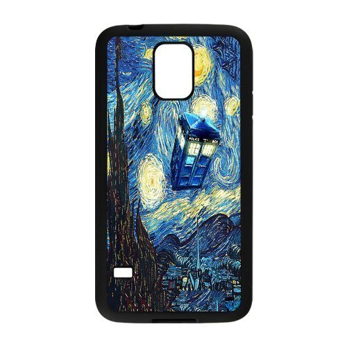 Dr Who Tardis Hard Shell TPU Rubber Full Cover Protective Case for Samsung Galaxy S5 SV S V (Doctor Who Samsung S5 Mini Case compare prices)