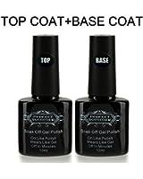 Perfect Summer 2pcs 10ml Vernis à Ongles Gels Semi-Permanents Soak Off Base Top Coat Gel UV LED Couleur Transparente