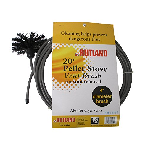Rutland 4-Inch Pellet Stove/Dryer Vent Brush with 20-Feet Handle (Dryer Duct Cleaning Kit compare prices)