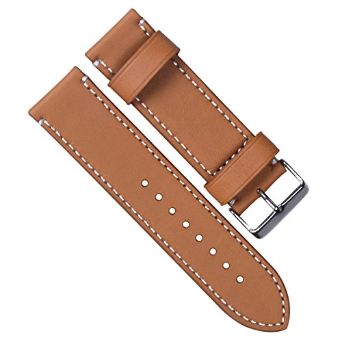 24mm-vintage-genuine-leather-silver-buckle-watch-strap-watch-band-tan