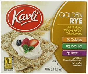 Kavli Crispbread, Golden Rye, 5.29-Ounce Boxes (Pack of 12)
