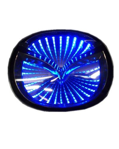 Car 3D Reflective Led Logo Emblem Badge Sticker Lights For Mazda 3 M3 Blue New