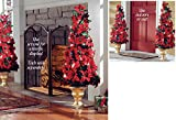 Lighted Poinsettia Holiday Floral Topiary