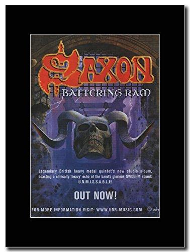 Saxon-Battering Ram. Magazine Promo su un supporto, colore: nero