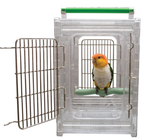 Buy Low Price Perch and Go Clear View Bird Carrier and Travel Cage (B002EO1OIW)