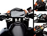Quick Release Motorcycle Bike Mount Handlebar Kit + Water Resistant Case for Large Mobile Phones