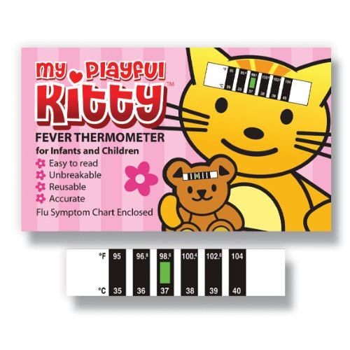 My Playful Kitty Forehead thermometer with Cold, Flu & Fever Baby Information Pack