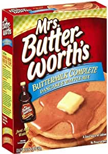 Mrs Butterworth's Pancake & Waffle Mix, Buttermilk Complete, 32 Ounce (Pack of 6)