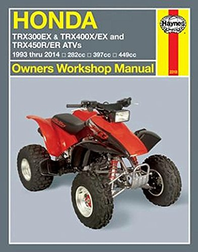 1993-2014 Honda TRX 300 400 450 FourTrax EX X R ER Quad ATV HAYNES REPAIR MANUAL (2014 Honda 450 compare prices)