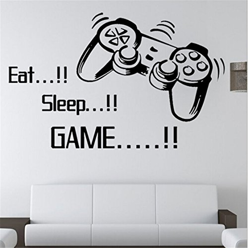Eat Sleep Game Quote Wall Sticker
