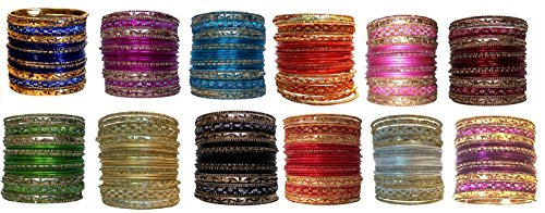 [India Bangle Wholesale Costume Party Favor Decoration (1 Dozen Multi Color)] (Made To Measure Belly Dance Costumes)