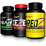 Creatine Testosterone Boost-Max Aesthetics Stack Fat Burner Pre Workout Lean Muscle For Men SHREDZ + DIEZEL + CREAZINE