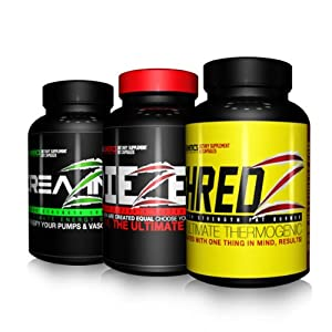 Creatine Testosterone Boost-Max Aesthetics Stack Fat Burner Pre Workout Lean Muscle For Men SHREDZ + DIEZEL + CREAZINE