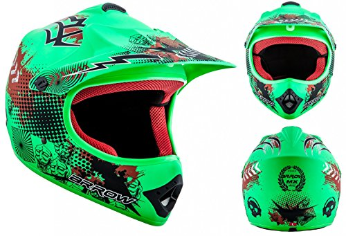arrow-helmets-akc-49-limited-green-moto-cross-helm-cross-helm-kinder-cross-helm-helmet-sport-junior-