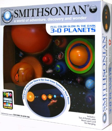 Awesome Nsi Toys Smithsonian 3-D Glowing Solar System