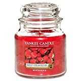 Yankee Candle Medium Jar Candle, Sweet Strawberry