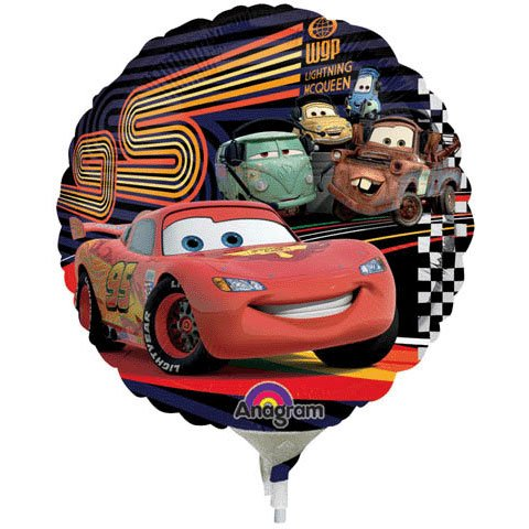Cars Mcqueen & Group Mini Anagram Balloons - 1